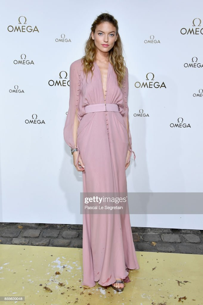 Martha Hunt attends 'Her Time' Omega Photocall as part of the Paris Fashion Week Womenswear Spring/Summer 2018 on September 29, 2017 in Paris, France.