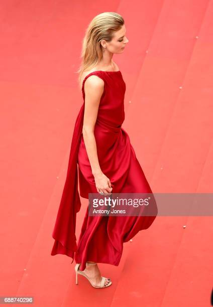 Martha Hunt attends the 'Amant Double ' screening during the 70th annual Cannes Film Festival at Palais des Festivals on May 26 2017 in Cannes France