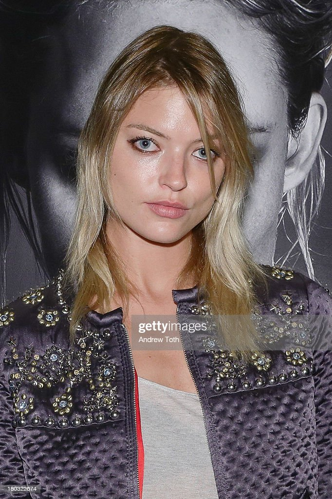 Martha Hunt attends the Interview Magazine's Model Issue Party at Monarch on September 10, 2013 in New York City.