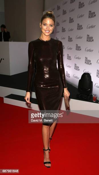 Martha Hunt attends the private view of the 'Cartier In Motion' exhibition curated by Norman Foster at The Design Museum on May 24 2017 in London...