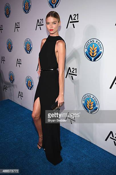 Martha Hunt attends the Unitas gala against Sex Trafficking at Capitale on September 15 2015 in New York City