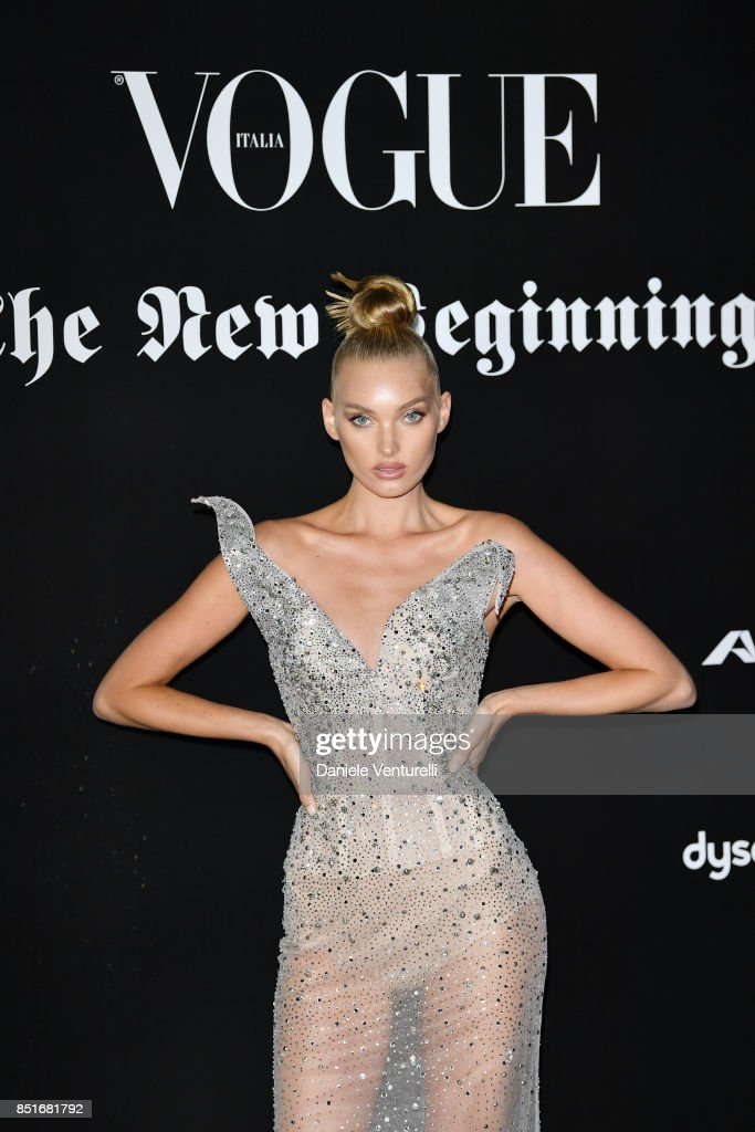 Martha Hunt attends theVogue Italia 'The New Beginning' Party during Milan Fashion Week Spring/Summer 2018 on September 22, 2017 in Milan, Italy.