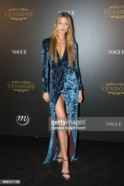 Martha Hunt attends Vogue Party as part of the Paris Fashion Week Womenswear Spring/Summer 2018 at on October 1 2017 in Paris France