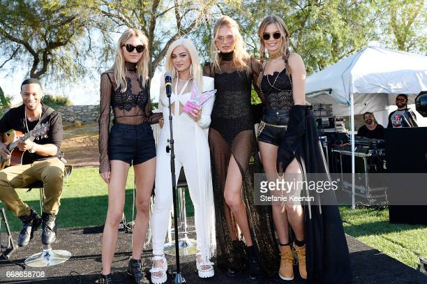 Martha Hunt Bebe Rexha Josephine Skriver and Romee Strijd attend Victoria's Secret Angels Celebrate the Sexy Little Things Launch at the Angel Oasis...