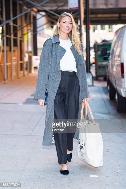Martha Hunt is seen in the Meatpacking District on October 19 2017 in New York City