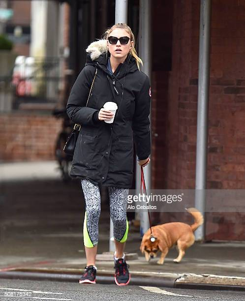 Martha Hunt is seen in the West Village on February 3 2016 in New York City
