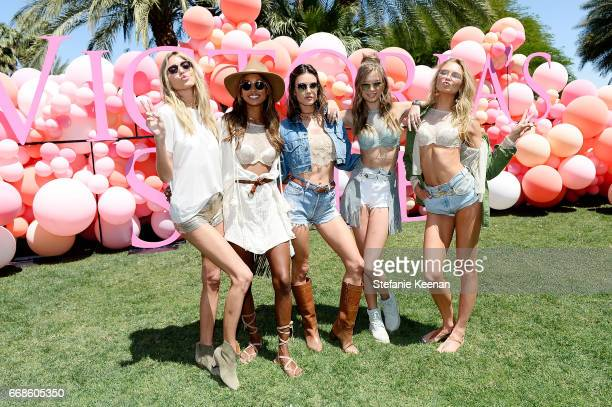 Martha Hunt Jasmine Tookes Alessandra Ambrosio Josephine Skriver and Romee Strijd attend Victoria's Secret Angels Celebrate the Sexy Little Things...