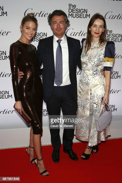 Martha Hunt Laurent Feniou and Roksanda Ilini attend the private view of the 'Cartier In Motion' exhibition curated by Norman Foster at The Design...