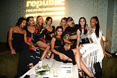 Martha Hunt Lily Aldridge Selena Gomez Taylor Swift Hailee Steinfeld and Serayah McNeill attend the Republic Records VMA after party at Ysabel on...