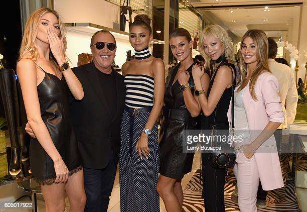 Martha Hunt Michael Kors Zendaya Nina Agdal Soo Joo Park and Cami Morrone attend the Michael Kors Access Smartwatch launch party at Michael Kors on...
