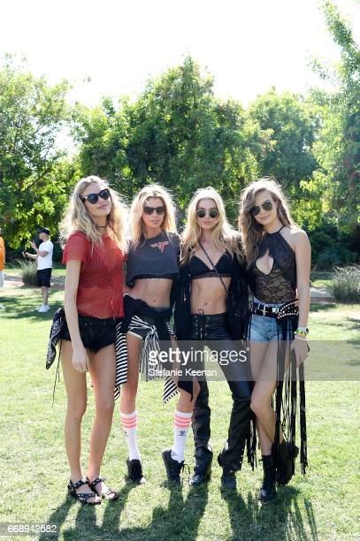 Martha Hunt Stella Maxwell Elsa Hosk and Josephine Skriver attend Victoria's Secret Angels Celebrate the Sexy Little Things Launch at the Angel Oasis...