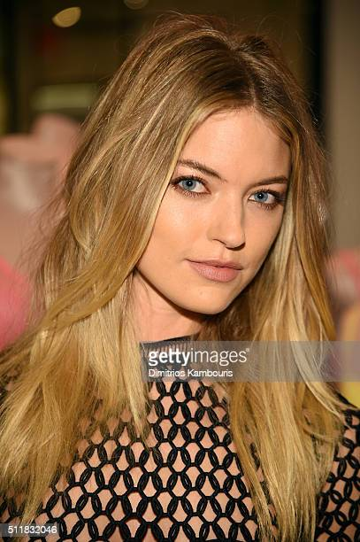 Martha Hunt stops by Victoria's Secret to pick out her favorite Body by Victoria Styles on February 23 2016 in New York City