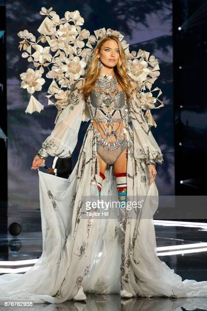 Martha Hunt walks the runway during the 2017 Victoria's Secret Fashion Show at MercedesBenz Arena on November 20 2017 in Shanghai China