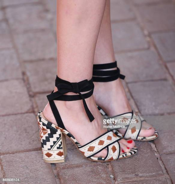 Martha MacIsaac shoe detail attends the 'Unicorn Store' premiere during the 2017 Toronto International Film Festival at Ryerson Theatre on September...