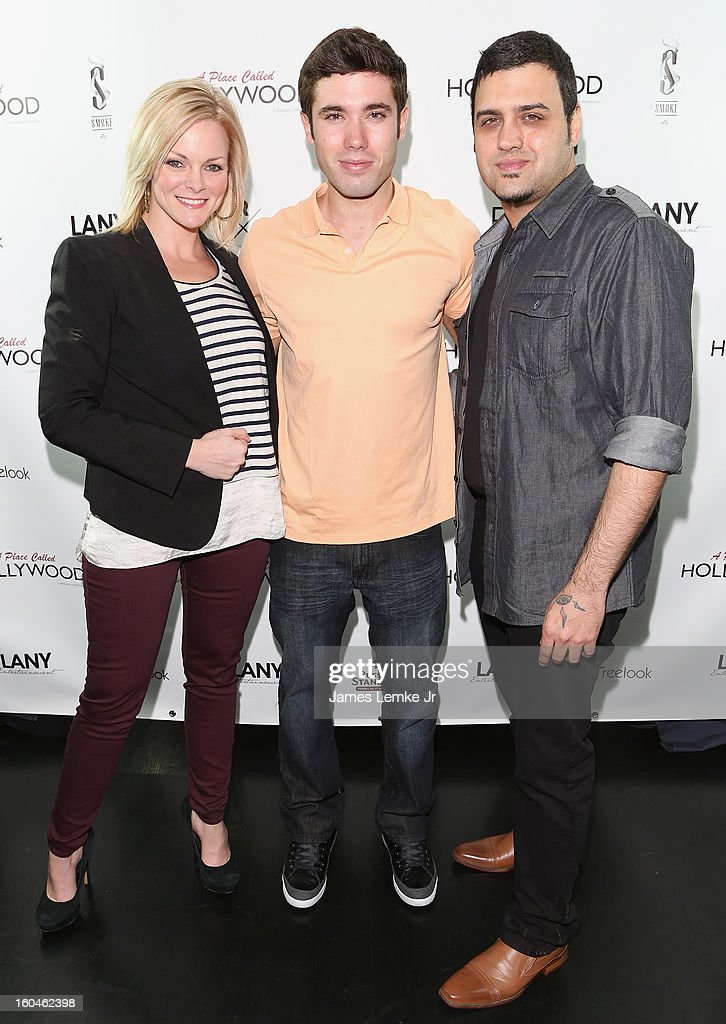 Martha Madison, Kristos Andrews and Gregori J. Martin attend the 'A Place Called Hollywood' Official Wrap Party held at the Smoke Steakhouse on January 31, 2013 in West Hollywood, California.