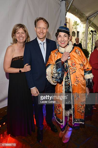 Martha Nelems British Consul General in Los Angeles Chris O'Connor and Tziporah Salamon attend the 2014 GREAT British Oscar Reception at British...