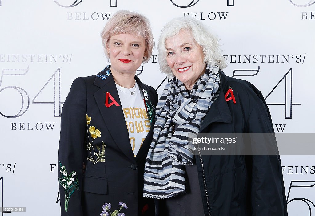 Martha Plimpton and Betty Buckley attend Broadway Acts For Women:a star-studded kight of karaoke and comedy at 54 Below on May 1, 2016 in New York City.