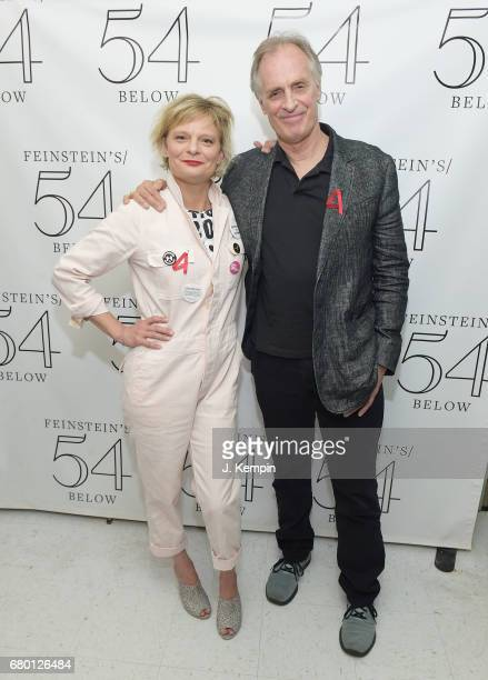 Martha Plimpton and Keith Carradine attend the Broadway Acts For Women 2017 Karaoke Event at 54 Below on May 7 2017 in New York City