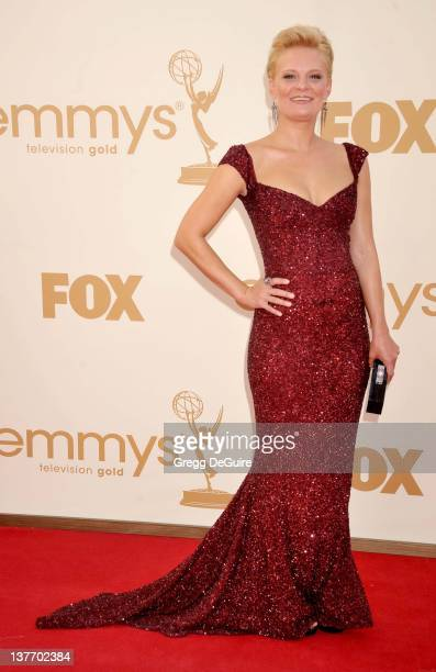 Martha Plimpton arrives at the Academy of Television Arts Sciences 63rd Primetime Emmy Awards at Nokia Theatre LA Live on September 18 2011 in Los...