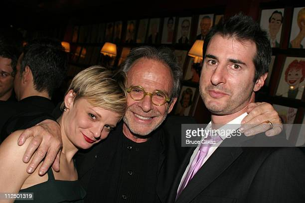 Martha Plimpton Ron Rifkin and Jon Robin Baitz during 'Glengarry Glen Ross' Broadway Opening Night Curtain Call and After Party at The Royale Theater...
