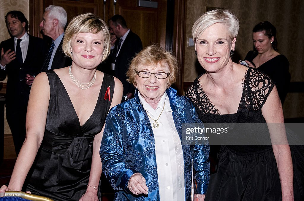 Martha Plimpton, Ruth Westheimer and Cecile Richards pose for a photo during attends Planned Parenthood Federation of America's VIP Reception at the Marriott Wardman Park Hotel on April 25, 2013 in Washington, DC.