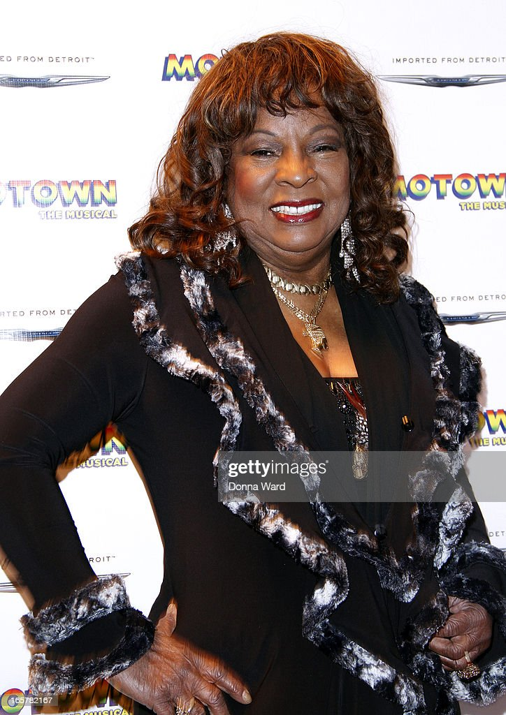 Martha Reeves attends 'Motown: The Musical' Motown Family Night at Lunt-Fontanne Theatre on April 5, 2013 in New York City.