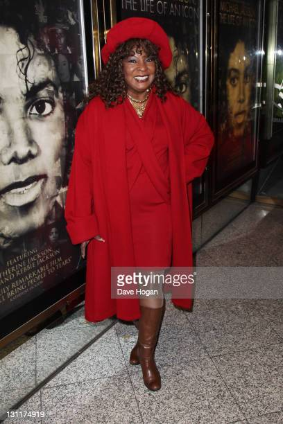 Martha Reeves attends the UK premiere of 'Michael Jackson The Life Of An Icon' at The Empire Leicester Square on November 2 2011 in London United...