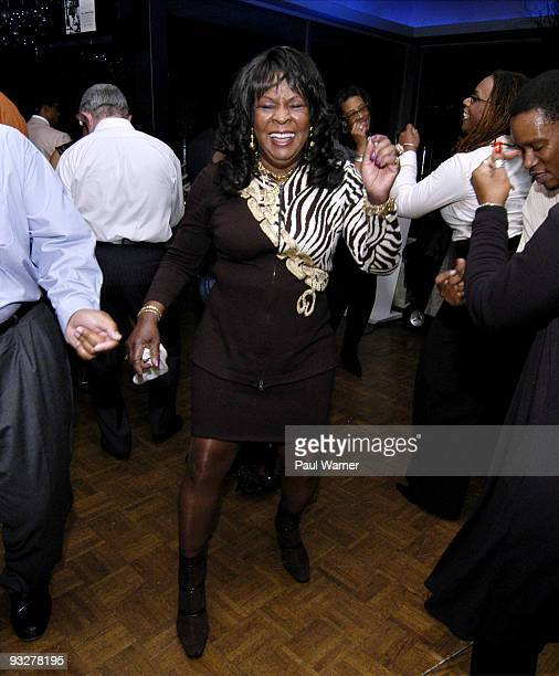 Martha Reeves dances at the Bop To Ballroom Live It Again Motown Alumni Recognition reception at the Roostertail on November 20 2009 in Detroit...