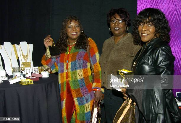 Martha Reeves Delphine Reeves and Lois Reeves in Backstage Creations Talent Retreat at 2004 Motown 45 Special