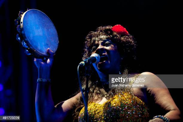 Martha Reeves of Martha Reeves The Vandellas performs on stage during Black is Back 2014 Festival at Matadero on May 16 2014 in Madrid Spain
