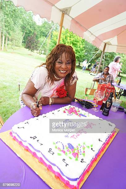 Martha Reeves poses at her surprise 75th private birthday party on July 24 2016 in Armada Michigan