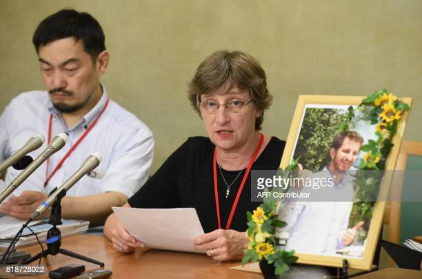 Martha Savage of New Zealand mother of Kelly Savage who died while in a hospital psychiatric ward speaks during a press conference at the Ministry of...