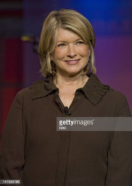 LENO Martha Stewart Air Date Episode 3653 Pictured Television personality Martha Stewart on November 10 2007 Photo by Paul Drinkwater/NBCU Photo Bank