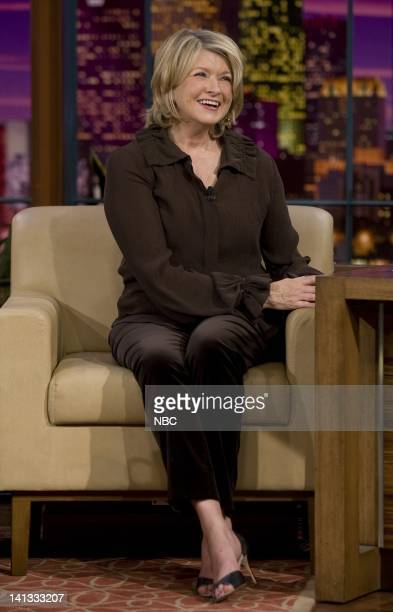 LENO Martha Stewart Air Date Episode 3653 Pictured Television personality Martha Stewart during an interview on November 10 2007 Photo by Paul...
