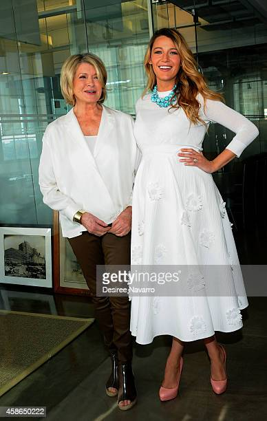 Martha Stewart and actress Blake Lively attend 2014 American Made Summit In Conversation With Martha Stewart And Blake Lively at Martha Stewart...