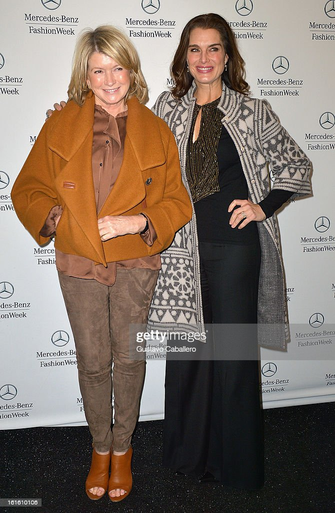 <a gi-track='captionPersonalityLinkClicked' href=/galleries/search?phrase=Martha+Stewart&family=editorial&specificpeople=202905 ng-click='$event.stopPropagation()'>Martha Stewart</a> and <a gi-track='captionPersonalityLinkClicked' href=/galleries/search?phrase=Brooke+Shields&family=editorial&specificpeople=202197 ng-click='$event.stopPropagation()'>Brooke Shields</a> are seen Around Lincoln Center - Day 6 - Fall 2013 Mercedes-Benz Fashion Week at Lincoln Center for the Performing Arts on February 12, 2013 in New York City.