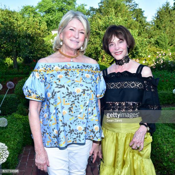 Martha Stewart and Charlotte Beers attend ARF in the Garden of Peter Marino at a Private Residence on July 15 2017 in Southampton NY