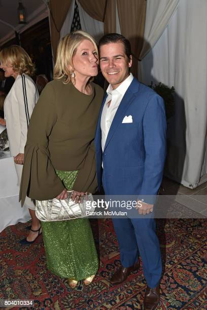 Martha Stewart and David Fitzgeorge Dunning at James D Dunning Jr's Birthday at The NoMad Hotel on June 7 2017 in New York City