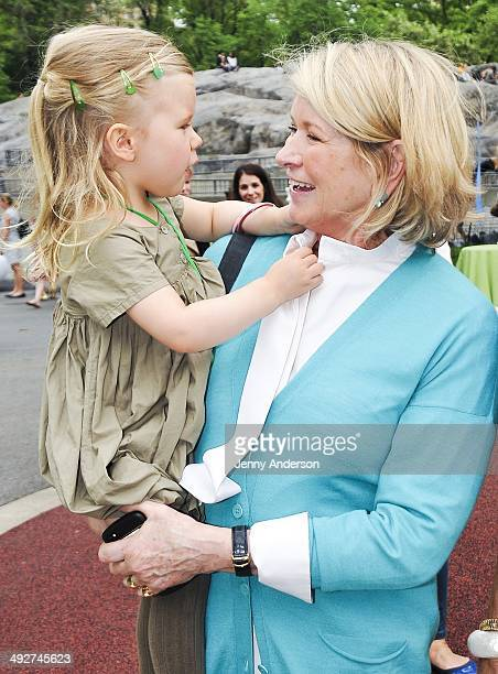 Martha Stewart and granddaughter Jude at the 22nd Annual Playground Partners Family Party at Heckscher Playground on May 21 2014 in New York City