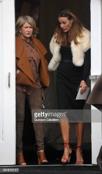Martha Stewart and Kelly Bensimon are seen Around Lincoln Center Day 6 Fall 2013 MercedesBenz Fashion Week at Lincoln Center for the Performing Arts...