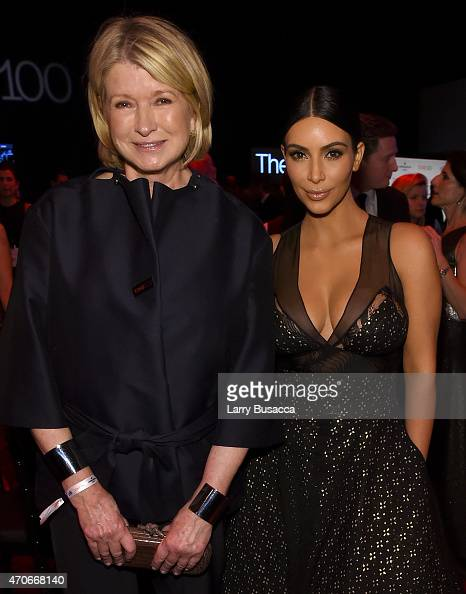 Martha Stewart and Kim Kardashian attend the TIME 100 Gala TIME's 100 Most Influential People In The World on April 21 2015 in New York City