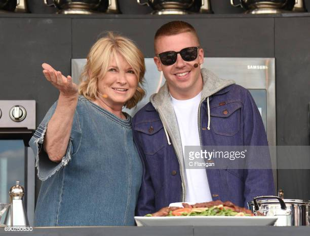 Martha Stewart and Macklemore are seen on the culinary stage during the 2017 BottleRock Napa Festival on May 26 2017 in Napa California