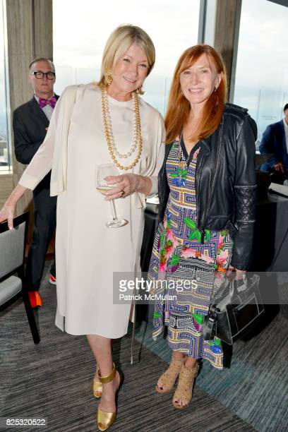 Martha Stewart and Nicole Miller at Magrino PR 25th Anniversary at Bar SixtyFive at Rainbow Room on July 25 2017 in New York City