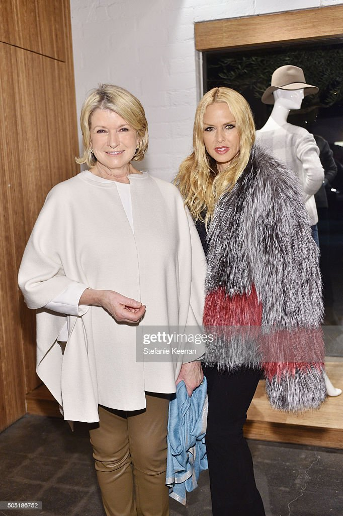 Martha Stewart and Rachel Zoe attend Jenni Kayne and Martha Stewart celebrate Martha Stewart Living's 25th Anniversary Issue at Jenni Kayne Boutique on January 15, 2016 in West Hollywood, California.