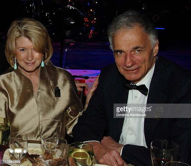 Martha Stewart and Ralph Nader during Time Magazine's 100 Most Influential People 2006 Inside at Jazz at Lincoln Center at Time Warner Center in New...