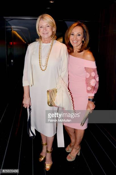 Martha Stewart and Rosanna Scotto at Magrino PR 25th Anniversary at Bar SixtyFive at Rainbow Room on July 25 2017 in New York City