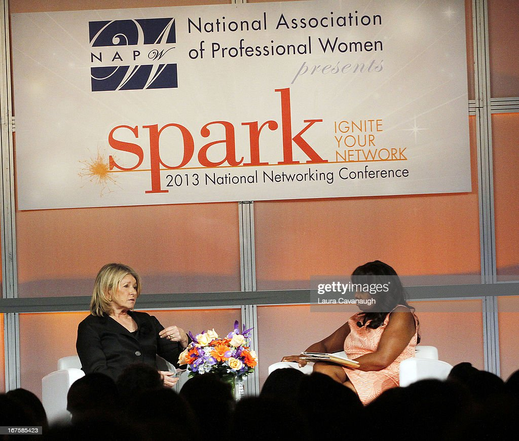 Martha Stewart and Star Jones attend the 2013 Spark. Ignite Your Network conference at the Sheraton New York Hotel & Towers on April 26, 2013 in New York City.