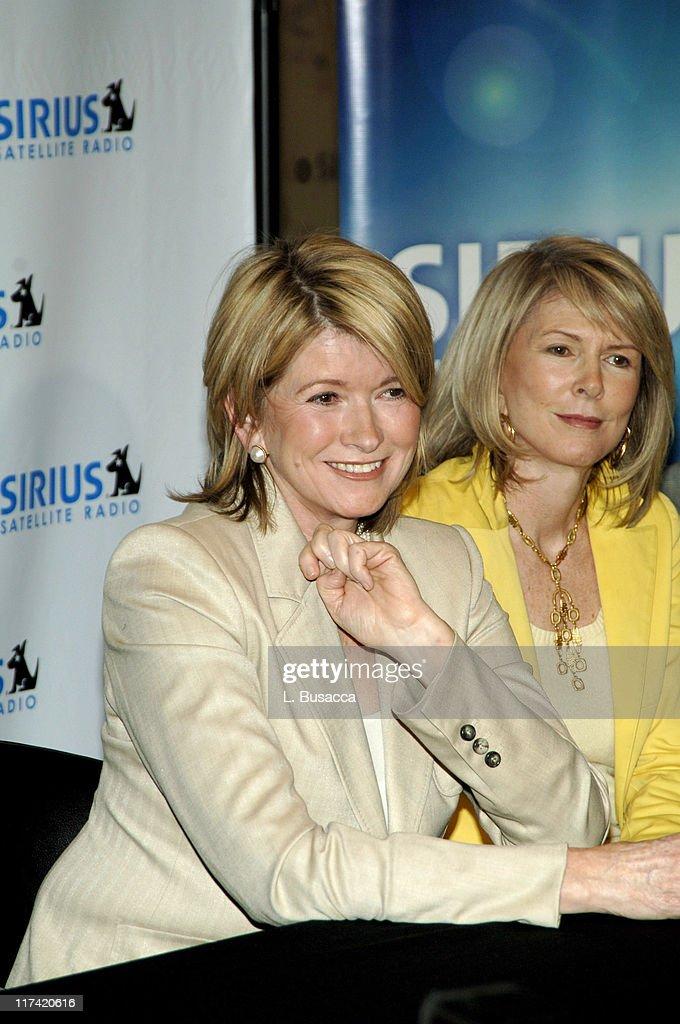 Martha Stewart and Susan Lyne CEO/president of Martha Stewart Living Omnimedia