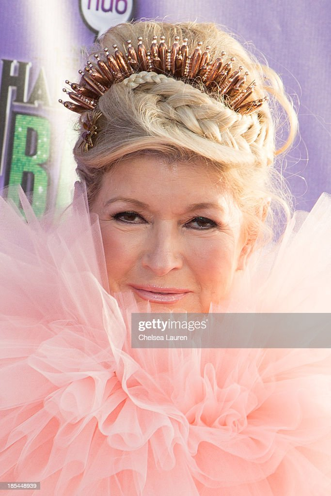 <a gi-track='captionPersonalityLinkClicked' href=/galleries/search?phrase=Martha+Stewart&family=editorial&specificpeople=202905 ng-click='$event.stopPropagation()'>Martha Stewart</a> arrives at Hub Network's 1st annual Halloween bash at Barker Hangar on October 20, 2013 in Santa Monica, California.