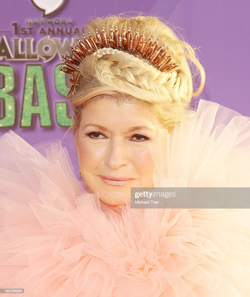 <a gi-track='captionPersonalityLinkClicked' href=/galleries/search?phrase=Martha+Stewart&family=editorial&specificpeople=202905 ng-click='$event.stopPropagation()'>Martha Stewart</a> arrives at Hub Network's 1st Annual Halloween Bash held at Barker Hangar on October 20, 2013 in Santa Monica, California.